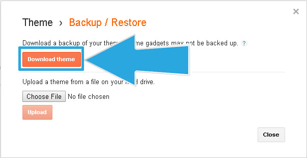 How To Backup and Restore Blogspot Theme/Template