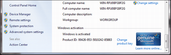 windows 7 activated