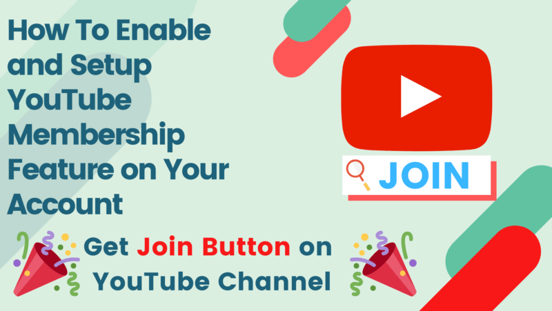 How To Enable and Setup YouTube Membership Feature on Your Account
