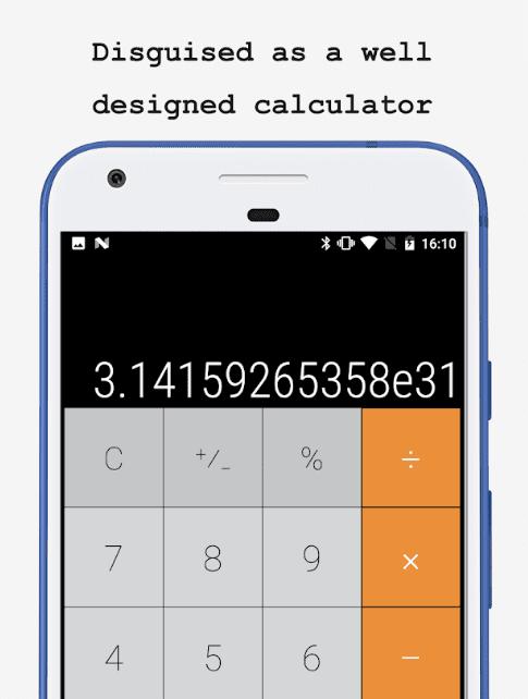 hide photos in calculator