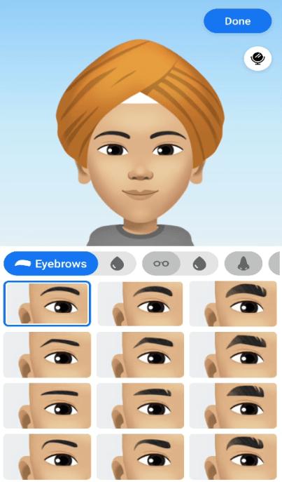 select eye brows