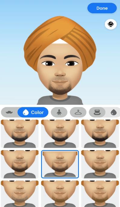 select facial hair