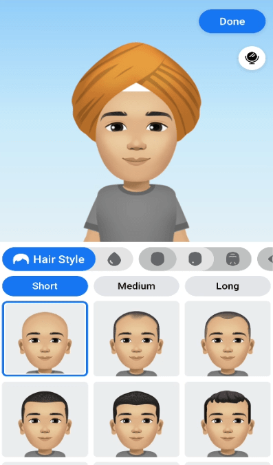 select your hair style