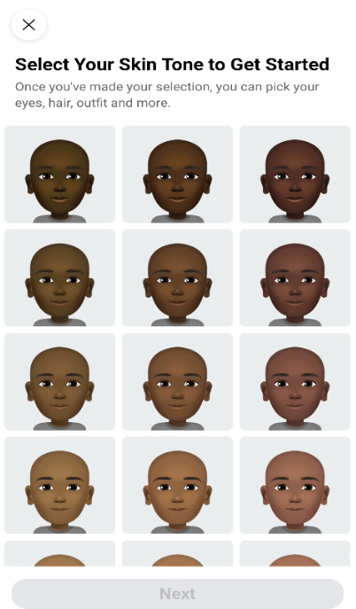 select your skin tone