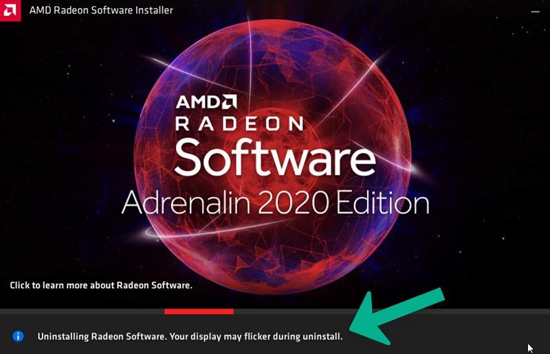 uninstalling old Radeon software