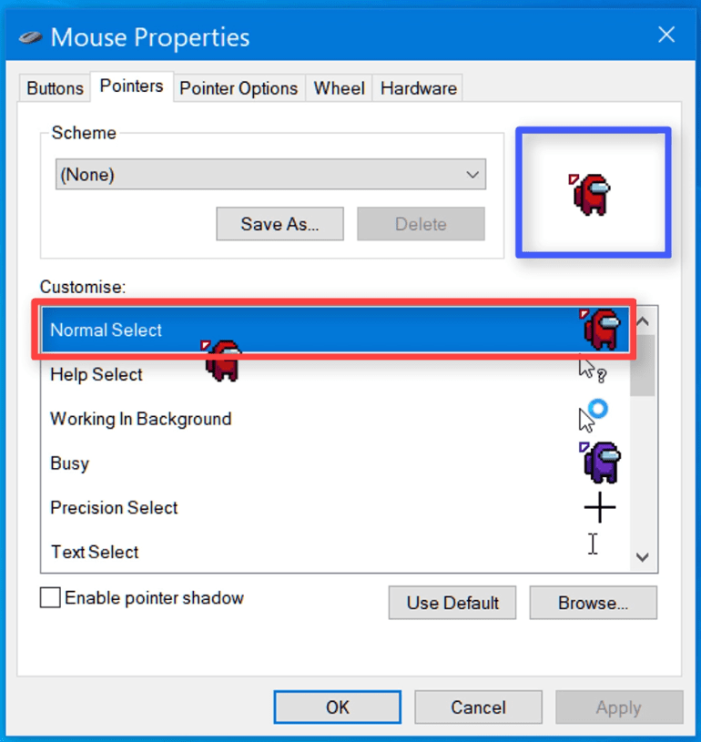 mouse properties